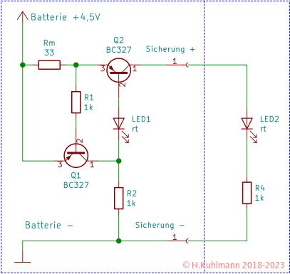 Elektronische Sicherung mit Abschaltung